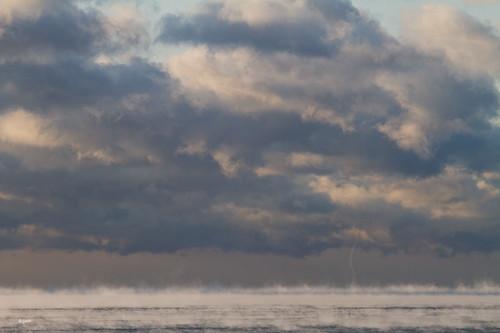 Lake Ontario Frozen MistSpout Toronto Ontario Canada by gashphoto