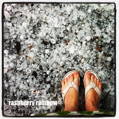 Melbourne. A white Christmas. Hail.