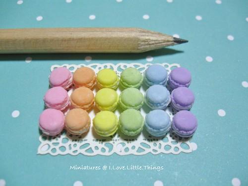 Dollhouse Miniature Pastel Macarons 2