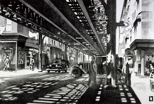 Louis Lozowick Allen Street 1929