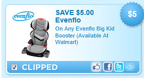 Evenflo Big Kid Booster (available At Walmart) Coupon