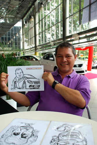 Caricature live sketching for Tan Chong Nissan Almera Soft Launch - Day 1 - 6