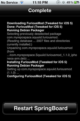 FuriousMod - Restart Springboard