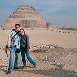 Dan & Audrey at Saqqara Pyramid - Egypt