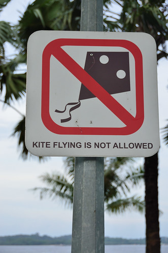 Kite flying is not allowed