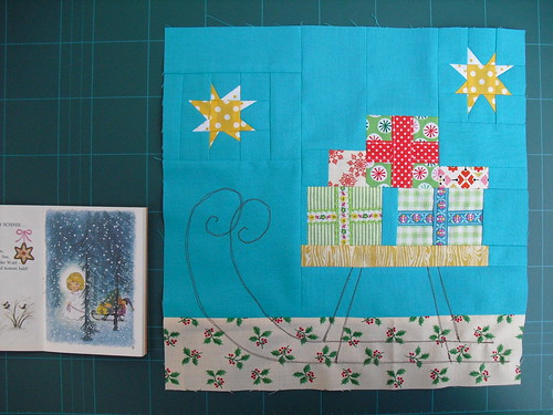 Cocorico Vintage Christmas block for Melinda