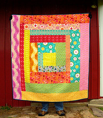 Folksy Flannel Log Mansion Quilt