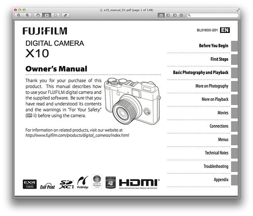 fujifilm x10 manual pdf download available now rh dpnotes com Fuji X30 Fuji X10 Accessories