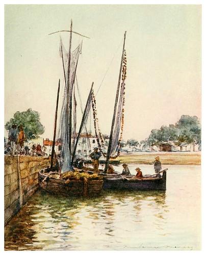 003-Botes de pesca en Concarneau-Brittany 1912- Mortimer y Dorothy Mempes