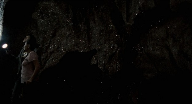 uncle boonmee, past lives, film, movie, weerasethakul, cave, sparkling, flashlight, rocks, night sky