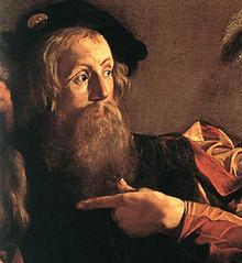 Caravaggio (1599), Vocación de Mateo