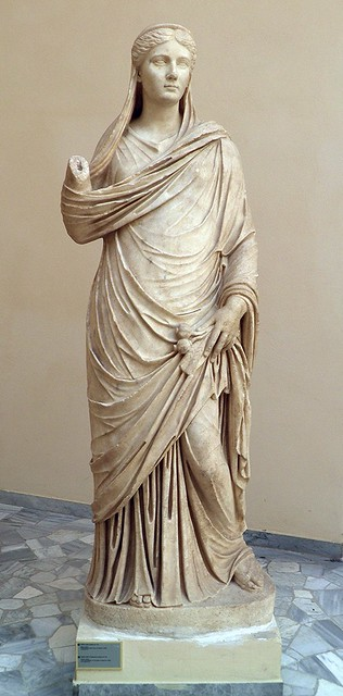 Sabina (wife of Hadrian) as Ceres, Parian marble, from the Palaestra of the Baths of Neptune, 2nd century AD, Ostia Antica, Italy