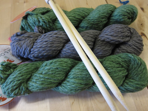 New yarn and needles