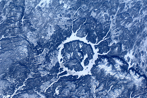 Meteoor inslag krater in Canada