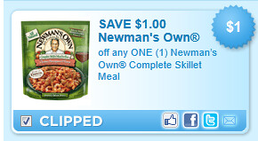 Newmans Own Complete Skillet Meal Coupon