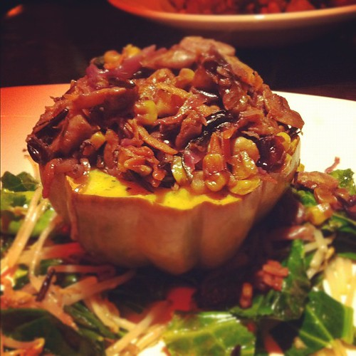 Stuffed acorn squash was so good.