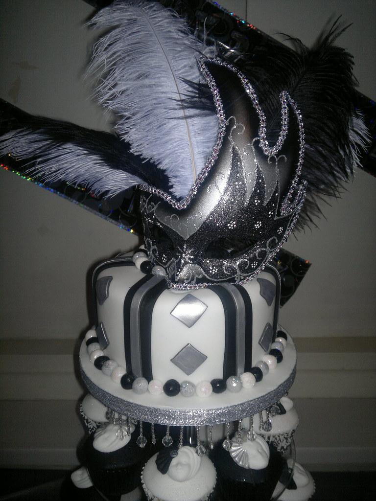 Black And White Masquerade Black White And Silver