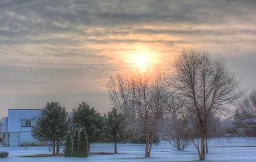 sunrise landscape hdr