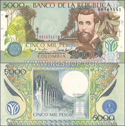 P-447_Colombia_1999_5,000_Pesos
