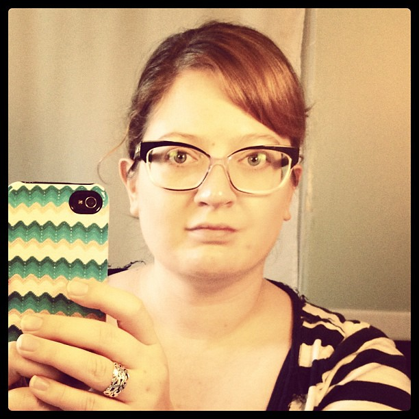 I'm not sure if I like my new glasses or not. What do you think?