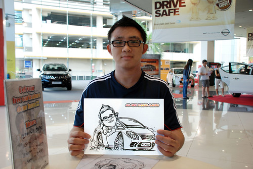 Caricature live sketching for Tan Chong Nissan Motor Almera Soft Launch - Day 4 - 12