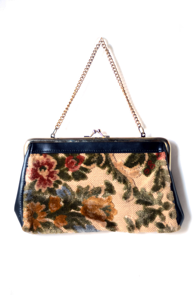 Vintage Tapestry Bag with LeatherSC_6501