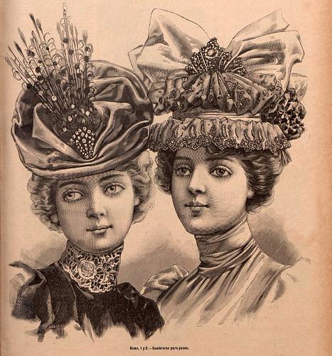 010-Sombreros para paseo-La Última moda-revista ilustrada hispano-americana, del 28 de agosto de 1898-copyright MemoriadeMadrid