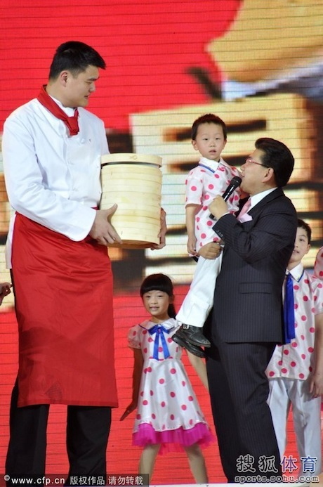 January 17th, 2012 - Yao Ming participates in the taping of a Chinese Lunar New Year television special