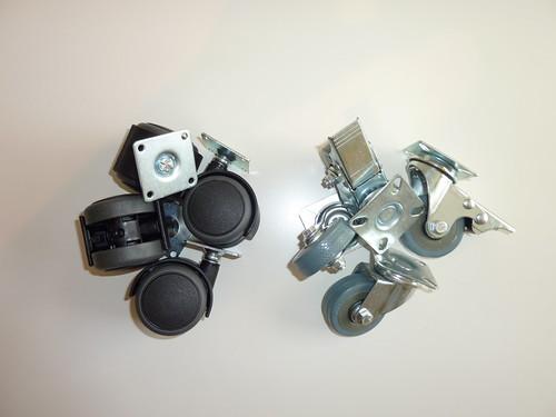 Castors - Plastic vs. Rubber with brakes