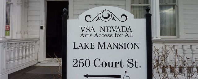 Photo of sign for the Lake Mansion, now the home of VSA Nevada