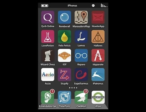Harry Potter's iPhone Tube App by 9gag