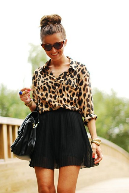 leopard and top knot