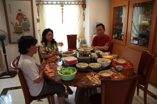 Simple reunion dinner for Chinese New Year 2012