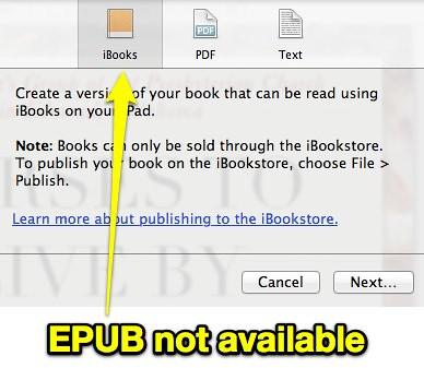 iBooks Author - EXPORT