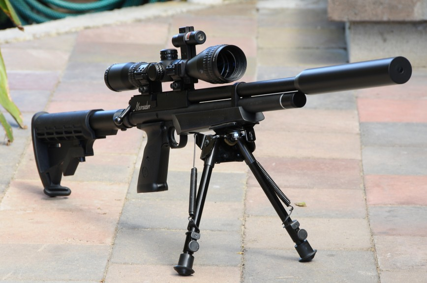 MarauderAirRifle com • View topic - Adding a bipod and laser