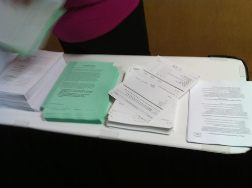 Papers handouts distributed today at #OCIC12