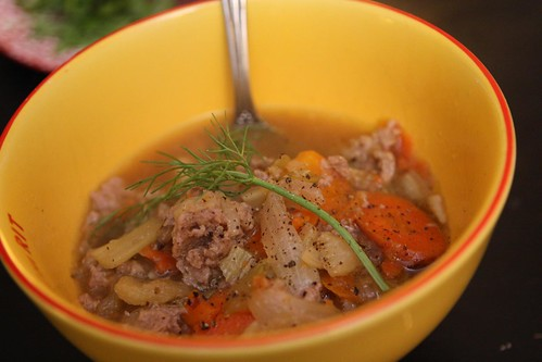 Braised Fennel and Sausage Soup