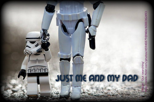 clone trooper boy with dad