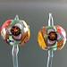 Earring pair : 3 Petal iris