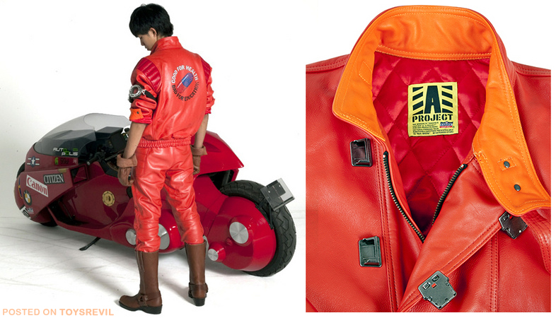 To celebrate the 30th Anniversary of Akira, Bandai is selling Kaneda's jacket! There's the signature RED jacket (shown above), and a black-version to choose