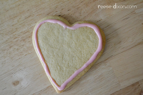 Sugar Cookie Valentines Tutorial Step 2