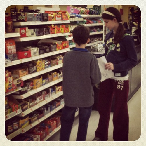 Treating her brother to a treat with her own money. Love her heart. #siblings
