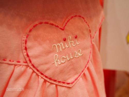ミキハウスの子供服 ワンピース ハート刺繍