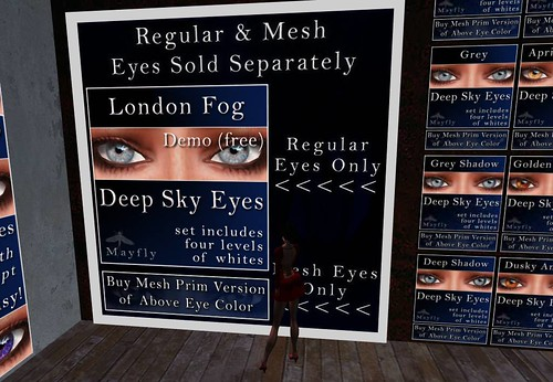Mayfly - Deep Sky Eyes (London Fog, free DEMO eyes), also MESH_001 by Cherokeeh Asteria