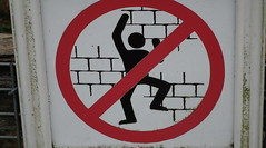 No dancing in front of a wall