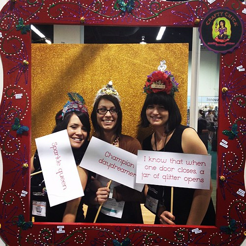 Lindsey, Brandi, and Lauren in our @craftychica  photo booth! #ilovetocreate #chashow
