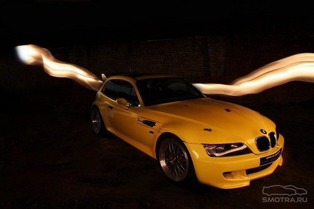 S50 to S62 Conversion | 1999 M Coupe | Dakar Yellow | Gray/Black | Carbon Goeke Spoiler Wing
