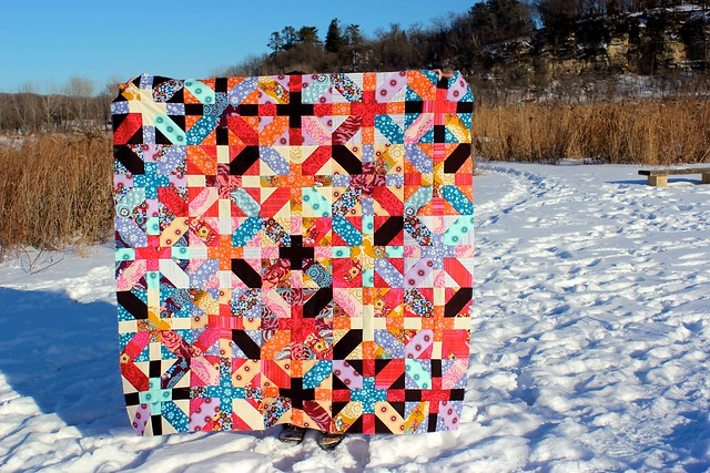 x and + quilt top.