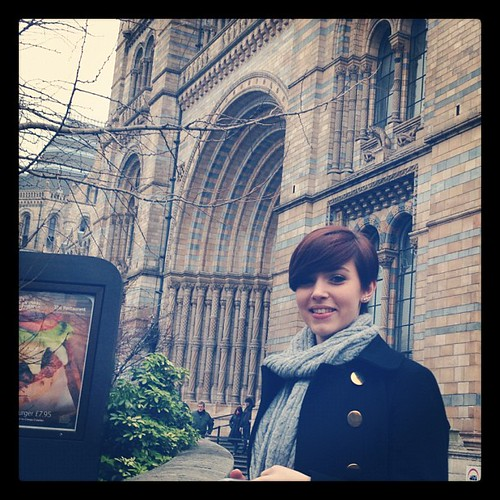 Outside the Natural History Museum