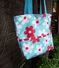 Red and Aqua Bag by blue angora